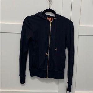 Tory Burch zip up hooded sweater shirt